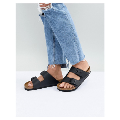 Birkenstock arizona black flat sandals
