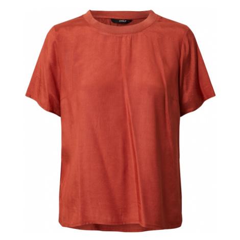 ONLY Koszulka 'ONLZANA S/S TOP WVN' czerwony