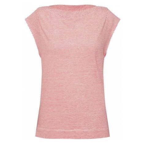 Calvin Klein Koszulka 'LINEN TEE OPEN NECK' czerwony