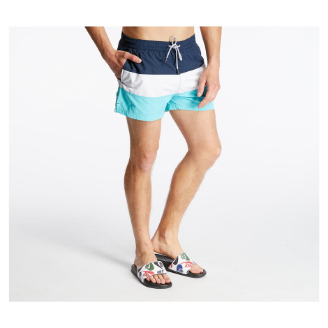 FILA Saloso Swim Shorts Black Iris/ Bright White/ Blue Curacao