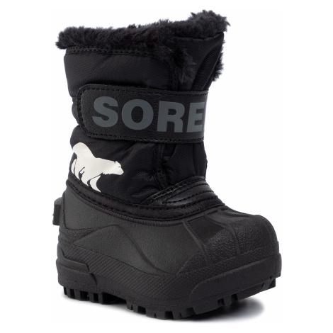Śniegowce SOREL - Toddler Snow Commander NV1960 Black/Charcoal 010