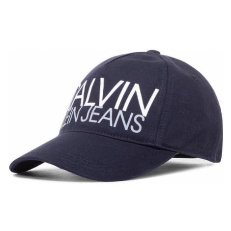 Calvin Klein Jeans Czapka z daszkiem Cut Off Logo Baseball Cap IU0IU00136 Granatowy