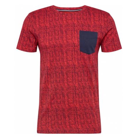 TOM TAILOR DENIM Koszulka niebieski / czerwony
