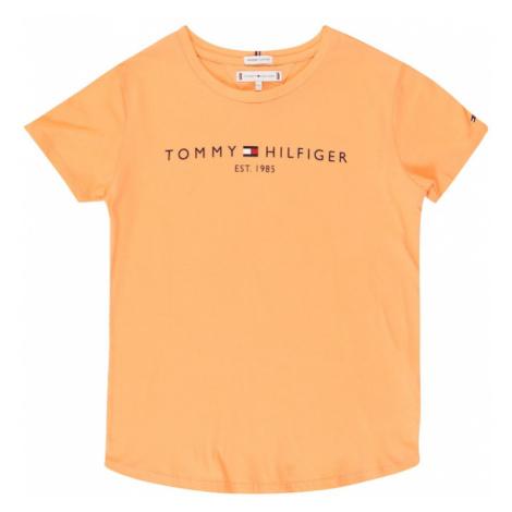 TOMMY HILFIGER Koszulka pomarańczowy / granatowy / czerwony