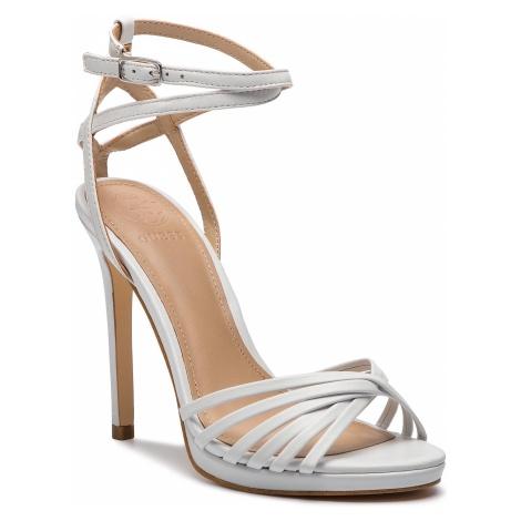Sandały GUESS - Tonya FL6TNY LEA03 WHITE