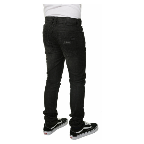 jeansy Quiksilver Distorsion Faded Black Youth - BSNW/Faded Black