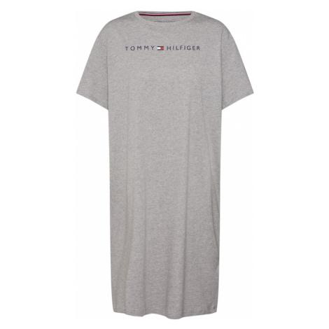 Tommy Hilfiger Underwear Koszula nocna 'RN DRESS HALF SLEEVE' szary