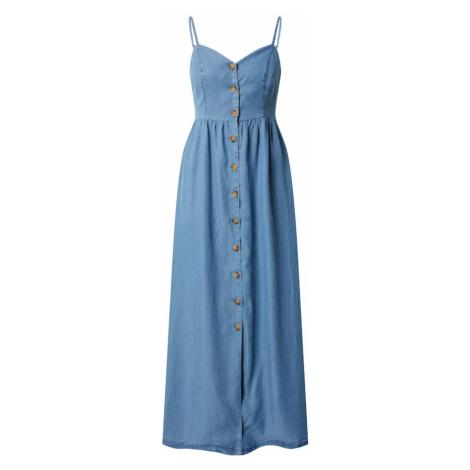 ONLY Letnia sukienka 'ONLCUMA LIFE SL BTN DWN LONG S DNM DRESS' niebieski denim