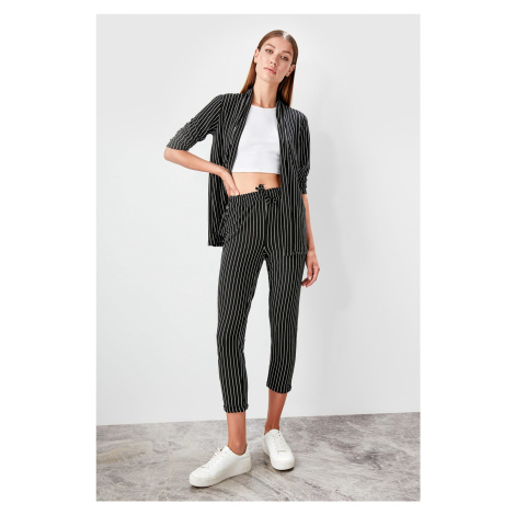 Trendyol Black Striped Knitted trousers