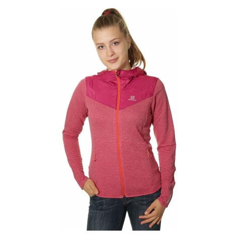 bluza Salomon Elevate Mid Zip - Gaura Pink