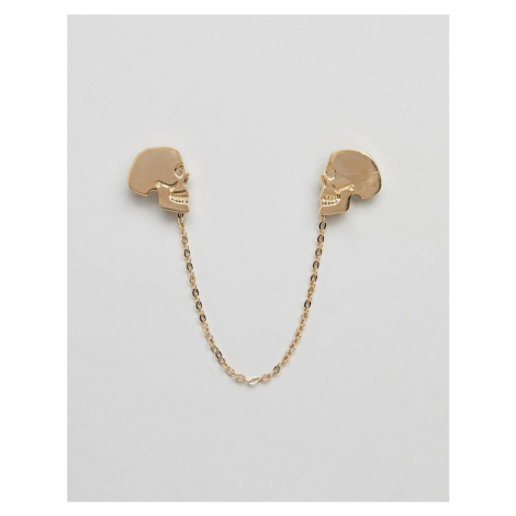 Twisted Tailor gold skull collar chain
