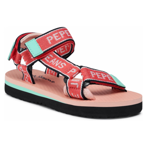 Sandały PEPE JEANS - Pool Tape Girls PGS90162 Bright Coral 342