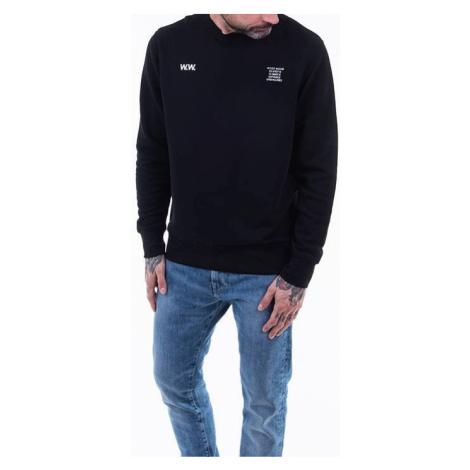 Bluza męska Wood Wood Voyages Hugh sweatshirt 12035619-2473 BLACK