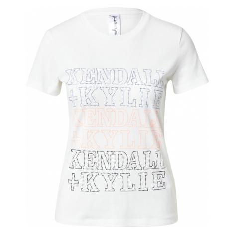 KENDALL + KYLIE Koszulka 'Embro' czarny / biały / pomarańczowy / niebieski