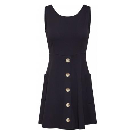 Boohoo Letnia sukienka 'Double Pocket Utility Dress with Button Through Skirt' czarny