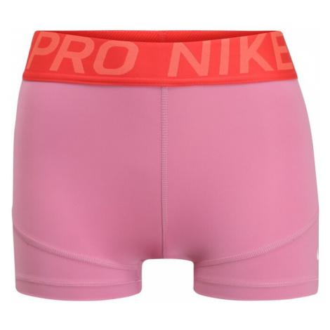 NIKE Spodnie sportowe 'Pro' czerwony / różowy