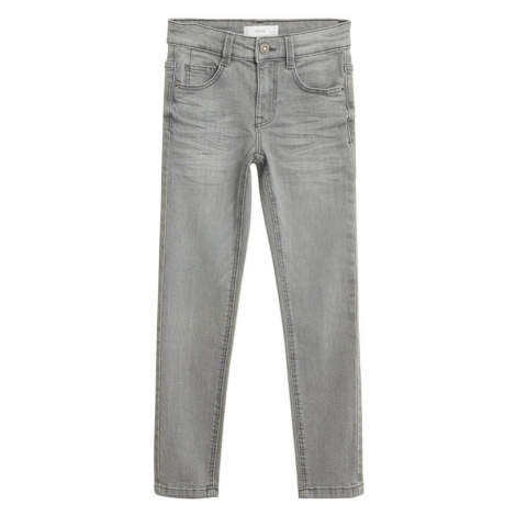 MANGO KIDS Jeansy szary denim