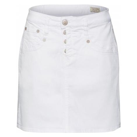 Herrlicher Spódnica 'Shyra Skirt Drill Stretch' biały