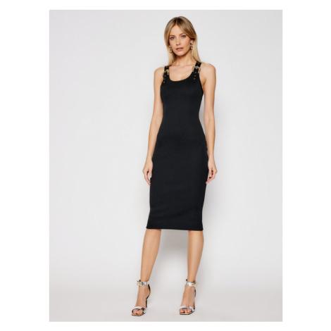 Versace Jeans Couture Sukienka codzienna D2HWA439 Czarny Slim Fit