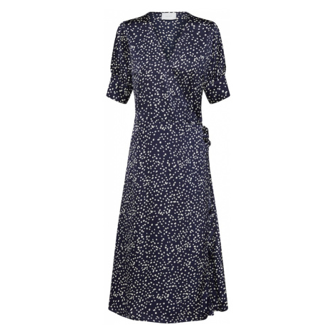 Neo Noir Letnia sukienka 'Mari Big Dot Dress' granatowy / offwhite