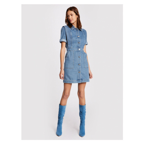 Morgan Sukienka jeansowa 211-RENIM Niebieski Slim Fit