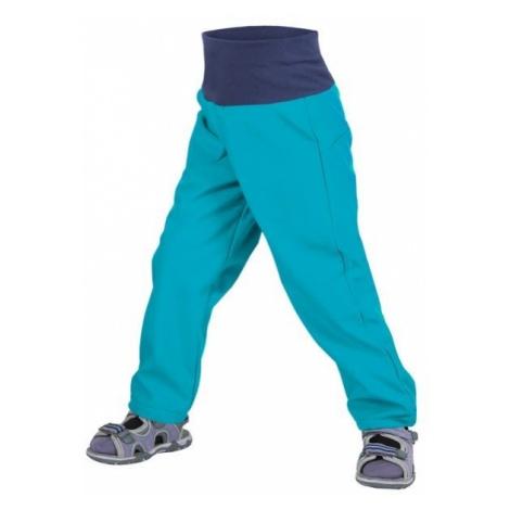 Unuo chłopięce spodnie softshell bez ocieplenia niebieski