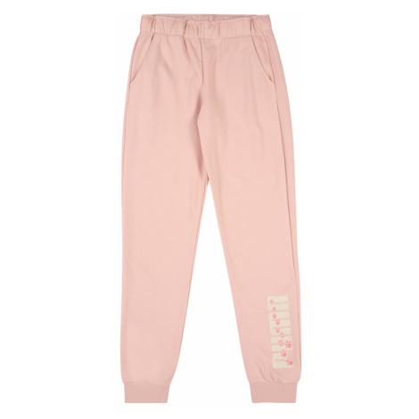 PUMA Spodnie sportowe biały / różany