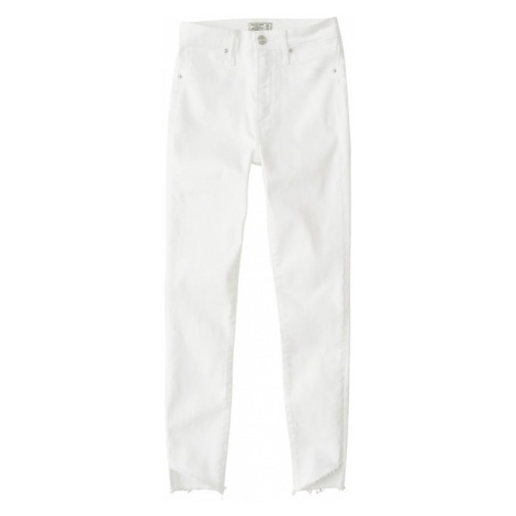 Abercrombie & Fitch Jeansy 'LD17-WHITE SIMONE HR ANKLE' biały