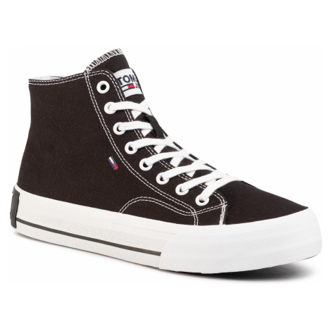 Sneakersy TOMMY JEANS - Classic Mid Tommy Jeans Sneaker EM0EM00402 Black BDS Tommy Hilfiger