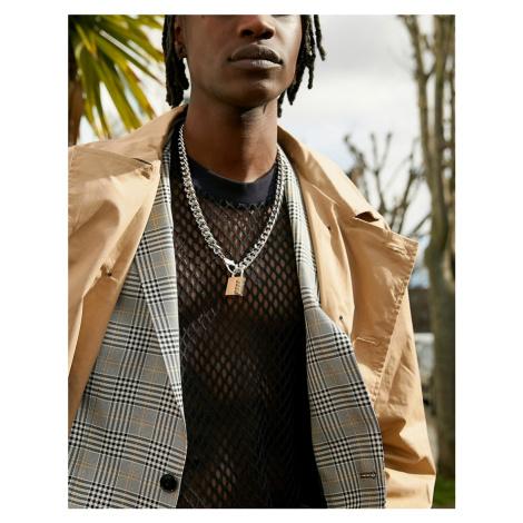 ASOS DESIGN chunky neckchain with padlock design