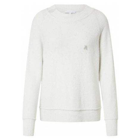 PATRIZIA PEPE Sweter 'Maglia' biały / srebrny