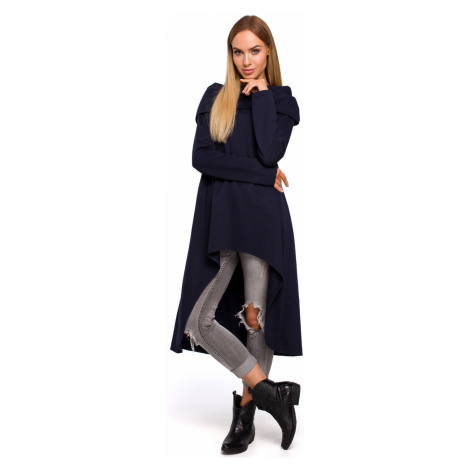 Made Of Emotion Woman's Tunic M477 Navy Blue