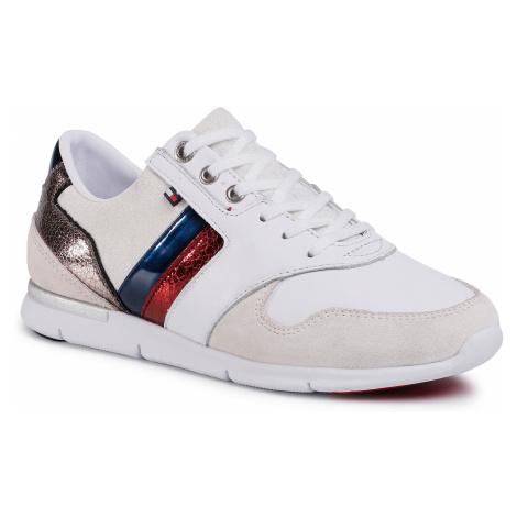 Sneakersy TOMMY HILFIGER - Leather Light Sneake FW0FW03554 Rwb 020