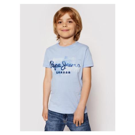 Pepe Jeans T-Shirt Golders Jk PB501338 Niebieski Regular Fit