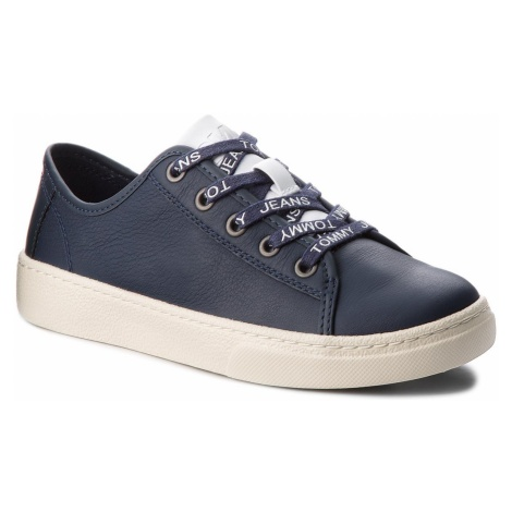 Sneakersy TOMMY JEANS - Light Leather Low EN0EN00230 Black Iris 431 Tommy Hilfiger