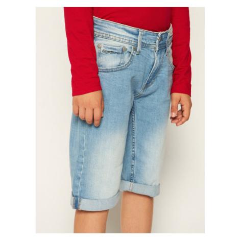 Pepe Jeans Szorty jeansowe Becket PB800134 Niebieski Slim Fit
