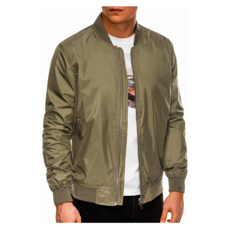 Ombre Clothing Men's mid-season bomber jacket C439