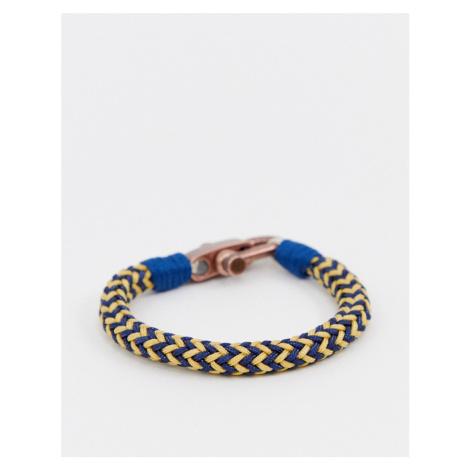Seven London blue & cream woven bracelet