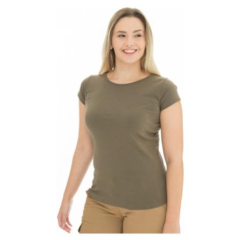 Damski oliwkowy T-shirt Bushman Natalie II