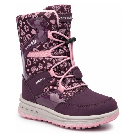 Śniegowce GEOX - J Roby G. B Wpf A J942UA 050FU C8224 S Purple/Pink