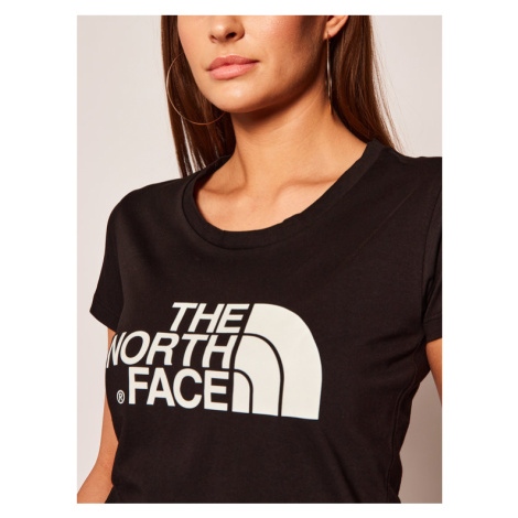 The North Face T-Shirt Easy Tee NF00C256JK31 Czarny Slim Fit