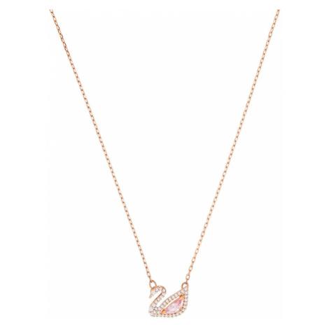 Swarovski Łańcuszek 'Dazzling Swan' różowy pudrowy / biały / różowe złoto