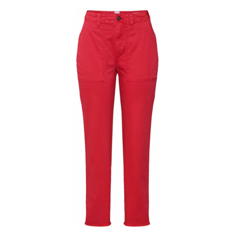 GAP Spodnie 'GIRLFRIEND CHINO UTILITY FRAY' czerwony
