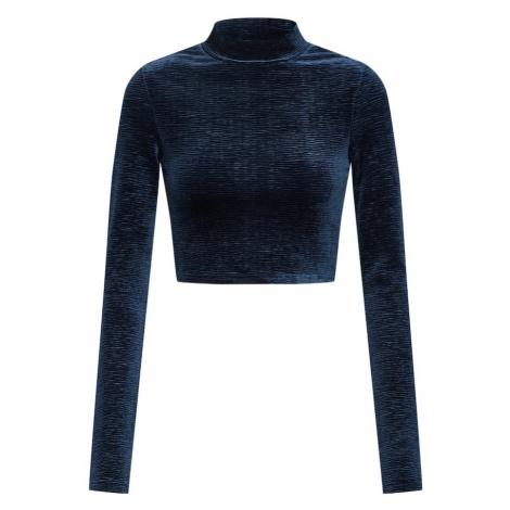 Review Koszulka 'VELVET CROP TOP' ciemny niebieski