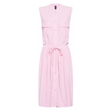 Y.A.S Sukienka koszulowa różowy pudrowy