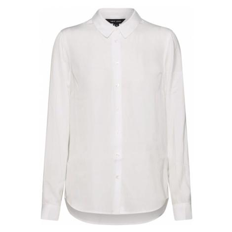 NEW LOOK Bluzka '01.06 WW T PLAIN MATTIE SATIN LS SHIRT P8' biały