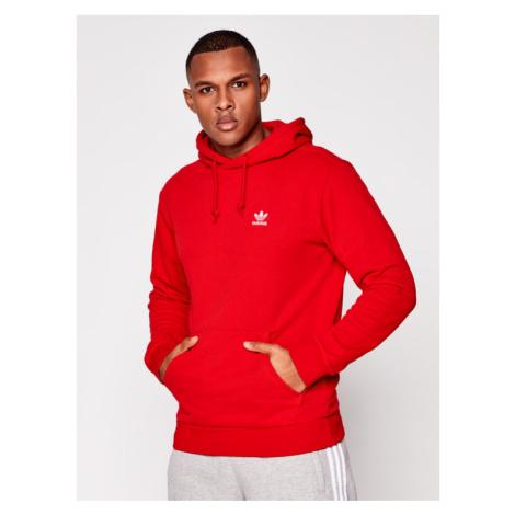 Adidas Bluza Trefoil Essentials GN3389 Czerwony Regular Fit