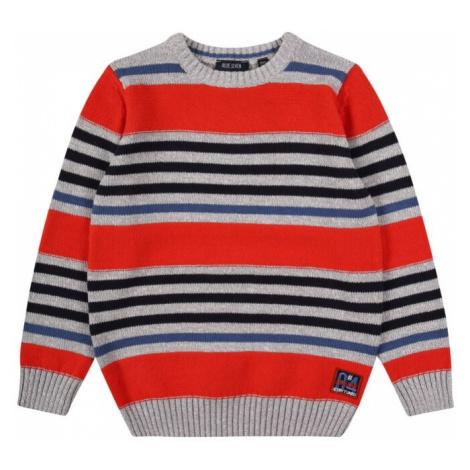 BLUE SEVEN Sweter czerwony / szary / niebieski