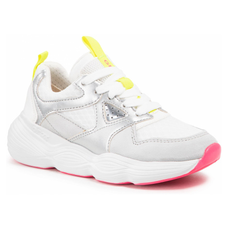 Sneakersy GEOX - J Bubblex G. B J04CNB 01422 C0007 S White/Silver