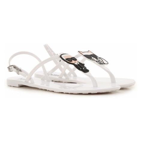Karl Lagerfeld Sandały dla Kobiet, biały, PVC, 2019